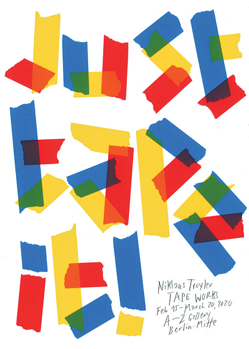 Niklaus Troxler (CH) - Just tape it